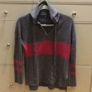 27 miles Malibu 100% Cashmere hooded sweater